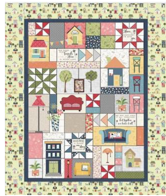 Make Yourself at Home, quilt kit (green border)