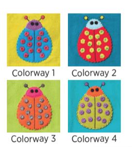 Sue Spargo, Ladybug #2, pre-cut wool applique pack