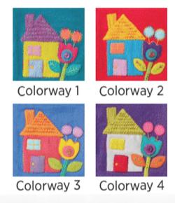 Sue Spargo, Houses #4, pre-cut wool applique pack