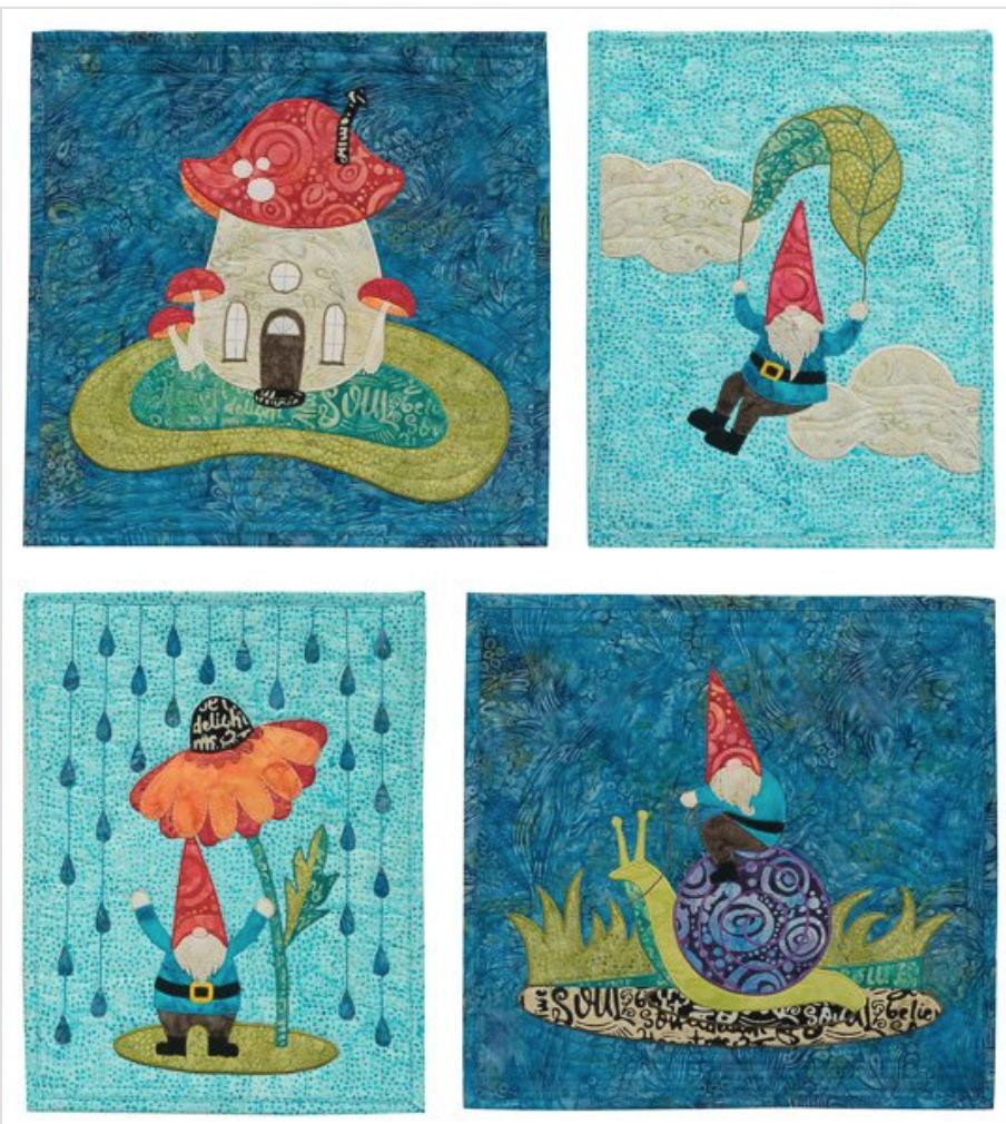 Gnome Man's Land, fabric kit