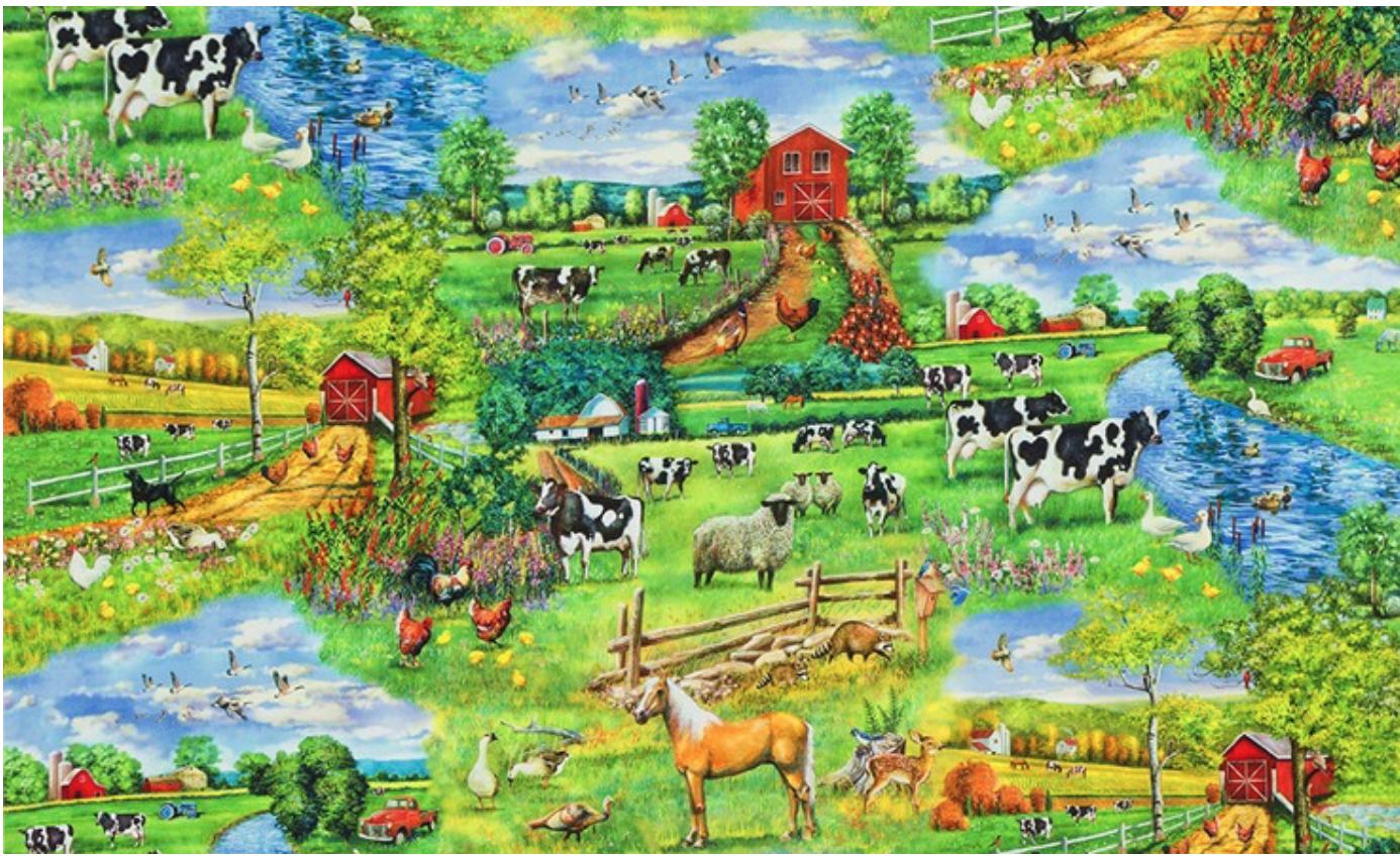 Down on the farm, digital print