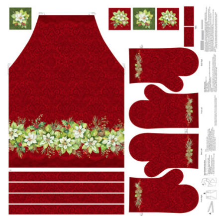 Deck the Halls- Apron panel
