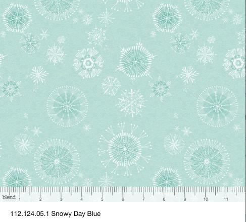 Snowy Day, blue