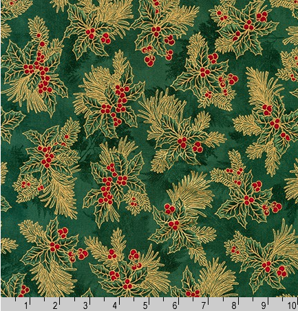 Holiday Flourish 12, APTM-18345-7 GREEN