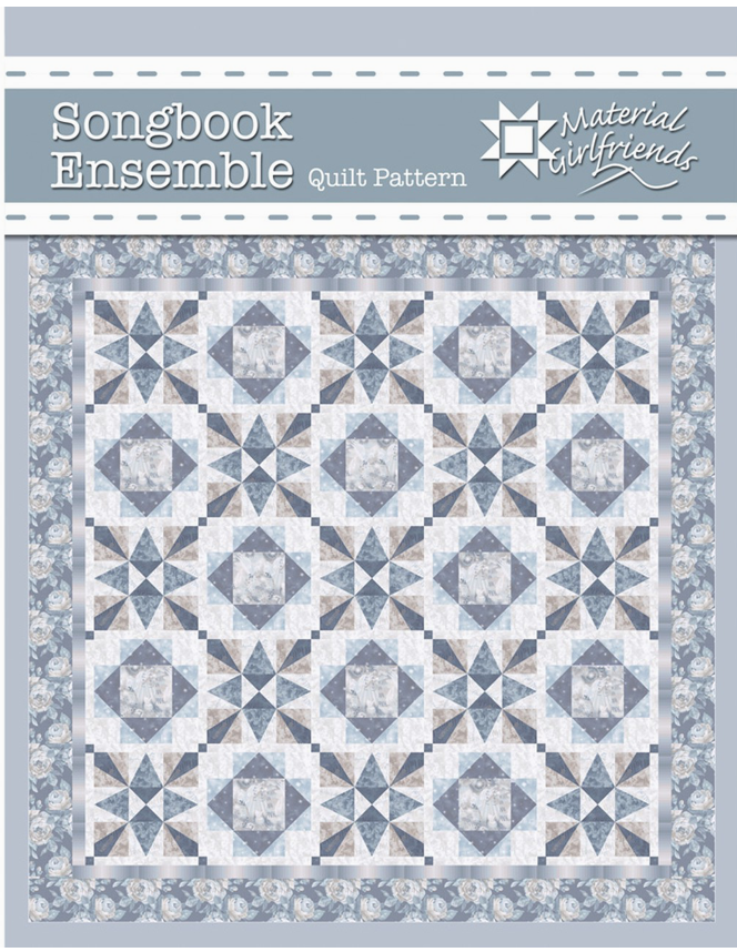 Songbook Ensemble, quilt kit w/pattern