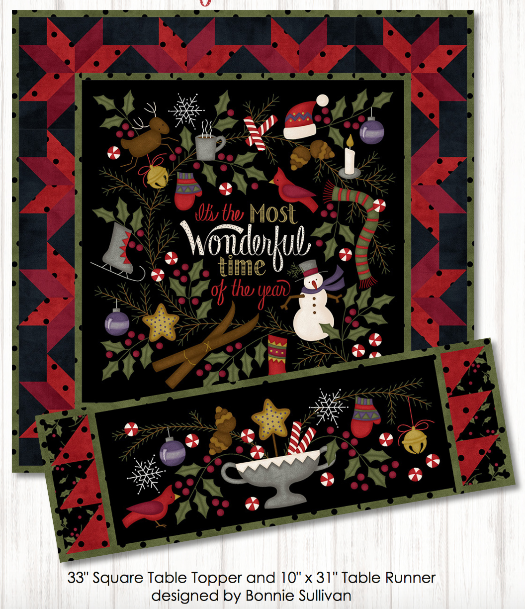 Most Wonderful Time, Table topper/runner kit