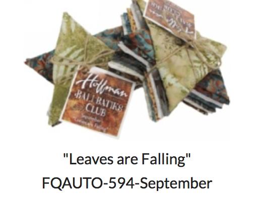 Bali Batik Club-September- Leaves are Falling 12 FQ bundle