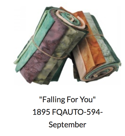 1895- Watercolor Club- September Falling for You 12 FQ bundle