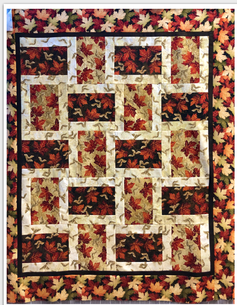 Twist and Shout, quilt kit 52 x 62 finished.