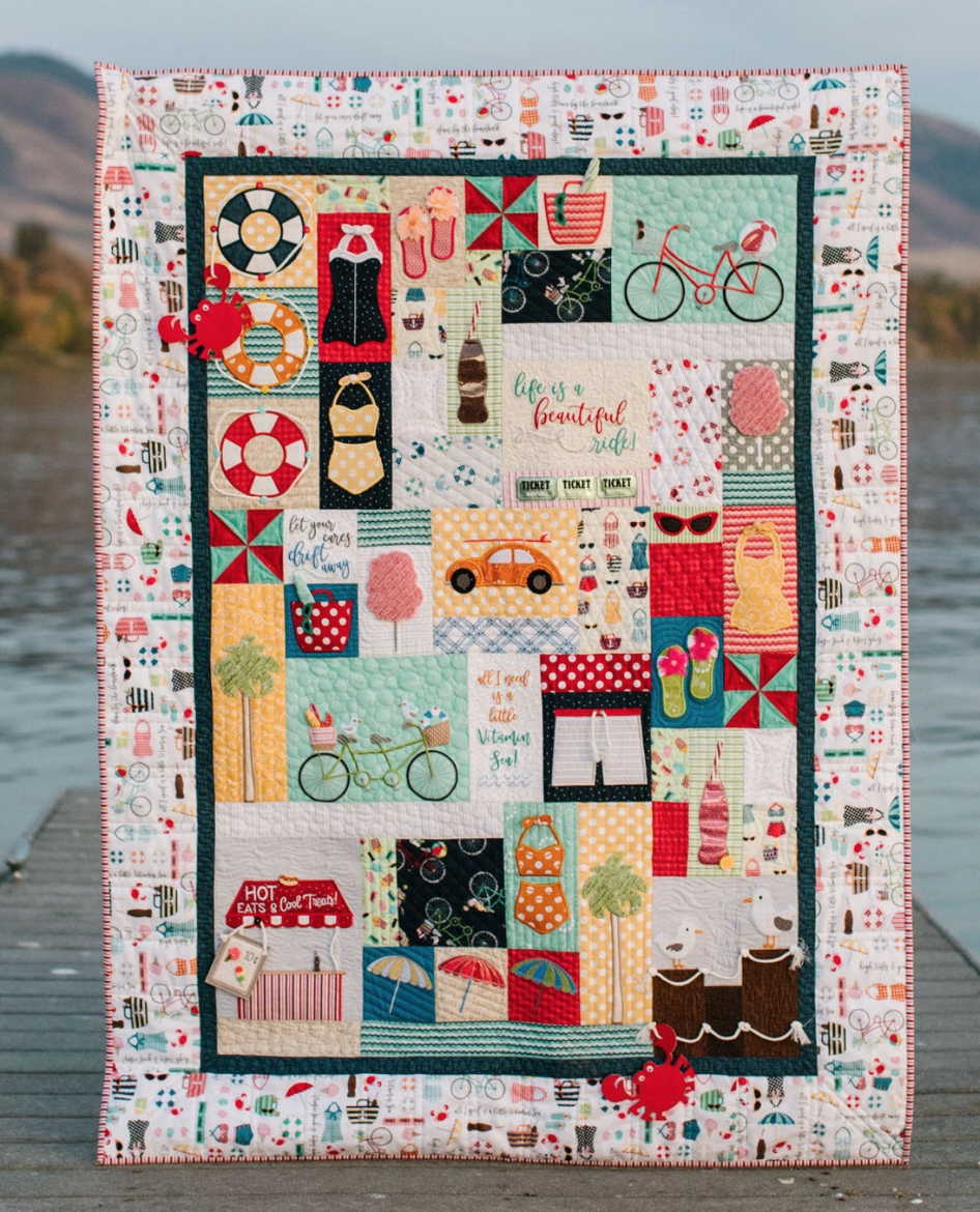 Vintage Boardwalk Complete ME Quilt Kit