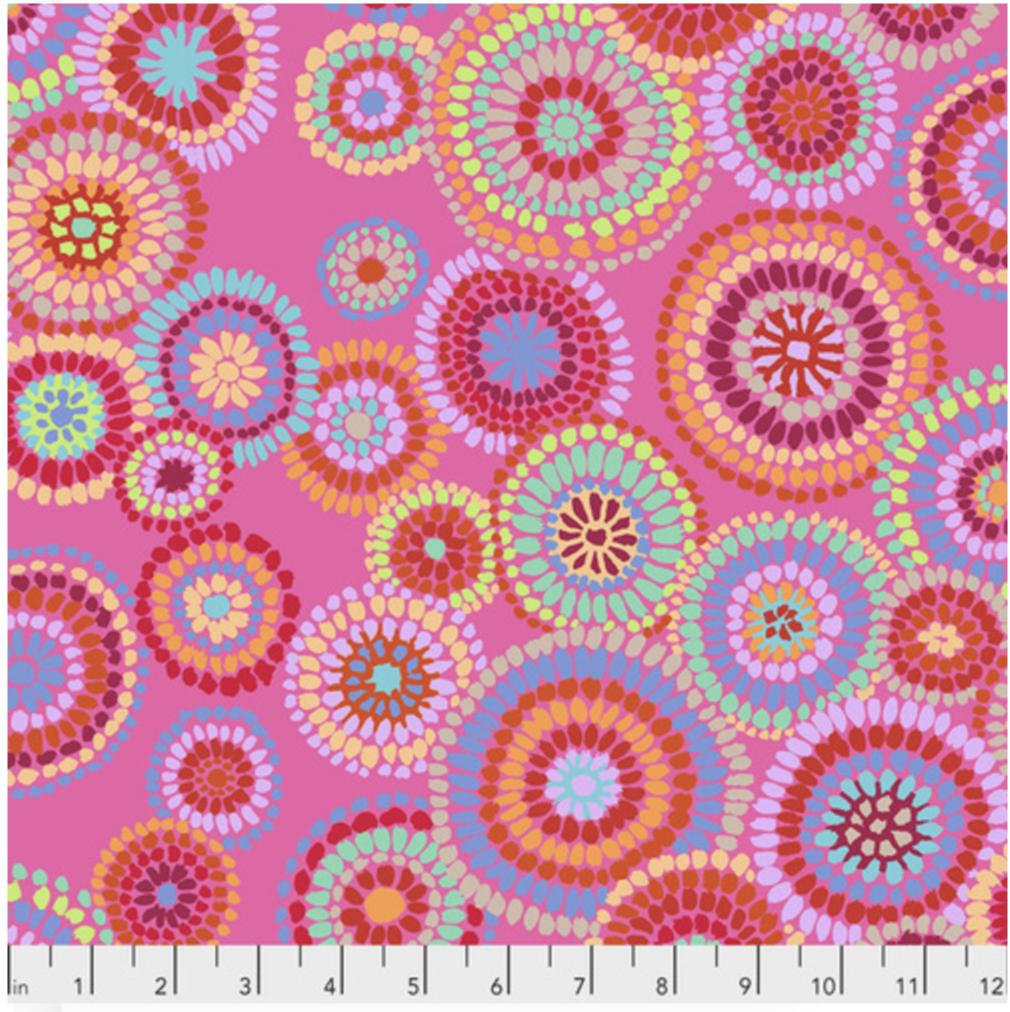 Kaffe Fassett- Spring 2020- Mosaic Circles-Pink