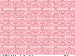 hello world - Row by Row, pink