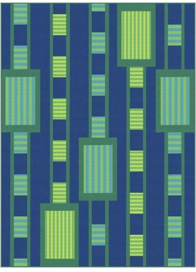 Crosswalk quilt kit, 60 x75