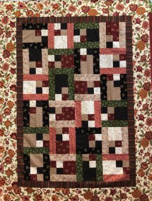 Easy Street quilt kit w/binding 46x62