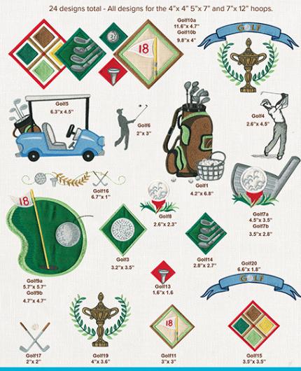 Anita Goodesign, Mini Collection, Golf