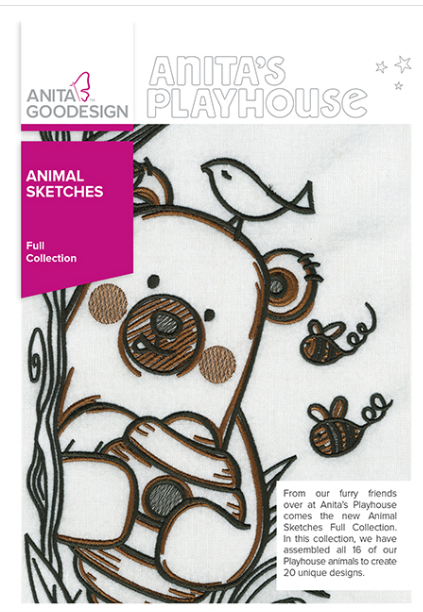 Anita Goodesign, Full Collection, Animal Sketches