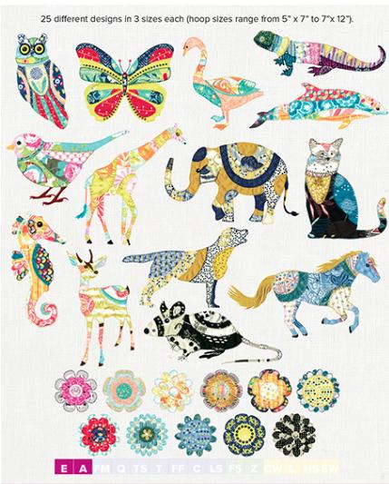 Anita Goodesign, Full Collection, Blanket Stitch Animals