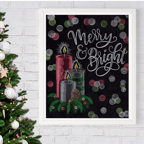 Scissortail Stitches Merry and Bright USB