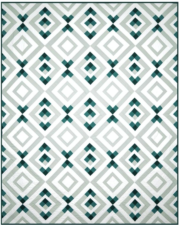 Crest Quilt, multiple sizes