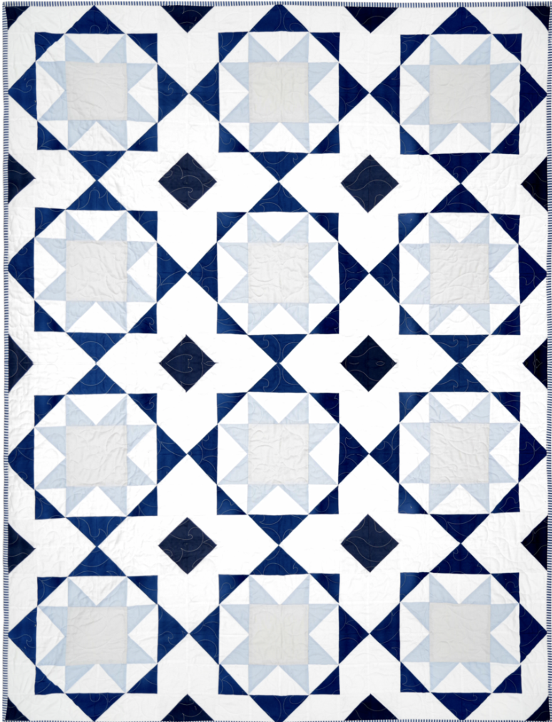 Santorini Quilt, multiple sizes