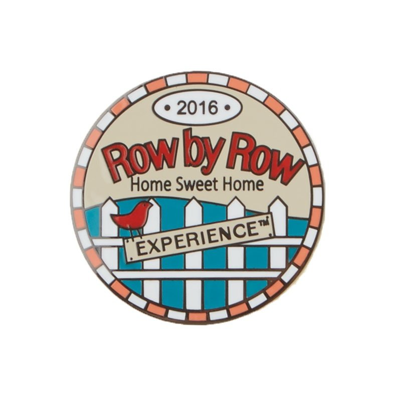 2016 Row by Row Round Logo Pin