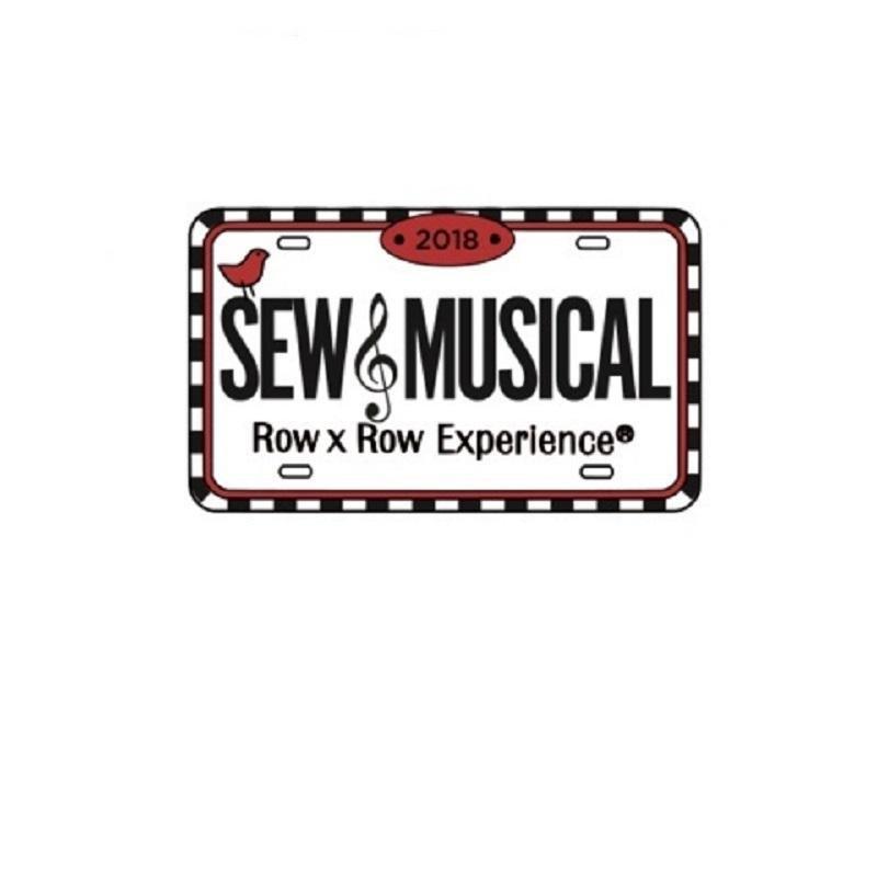 2018 Row by Row Rectangle Logo Pin
