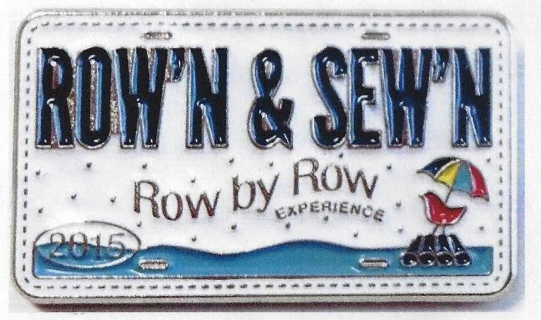 2015 Row by Row Rectangle Pin