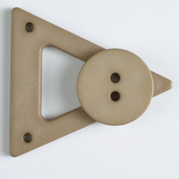 70mm Beige Closure with Button