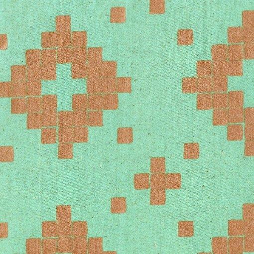 Tile Canvas Aqua - Metallic Copper