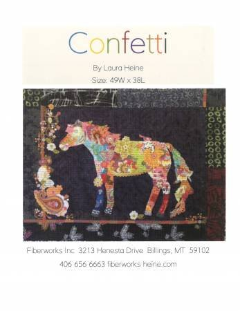 Confetti Horse Collage Pattern