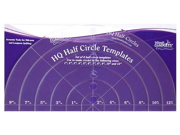 HQ Half-Circle Templates Set of 6