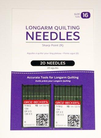 Longarm Needles Standard 16/100 - R Sharp (Pack 20)