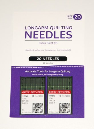 Longarm Needles Standard 20/125 - R Sharp (Pack 20)
