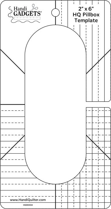 HQ Pillbox Template 2 x 6 Ruler