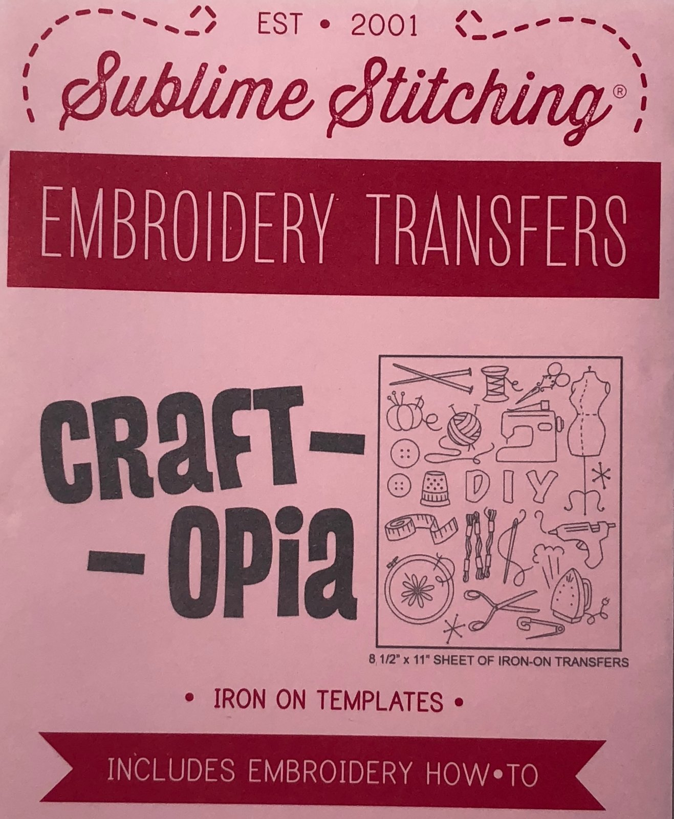 Craftopia Embroidery Pattern