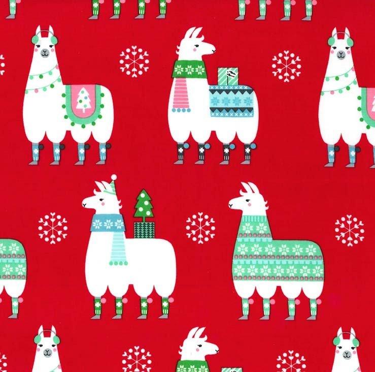 Llama Navidad Red