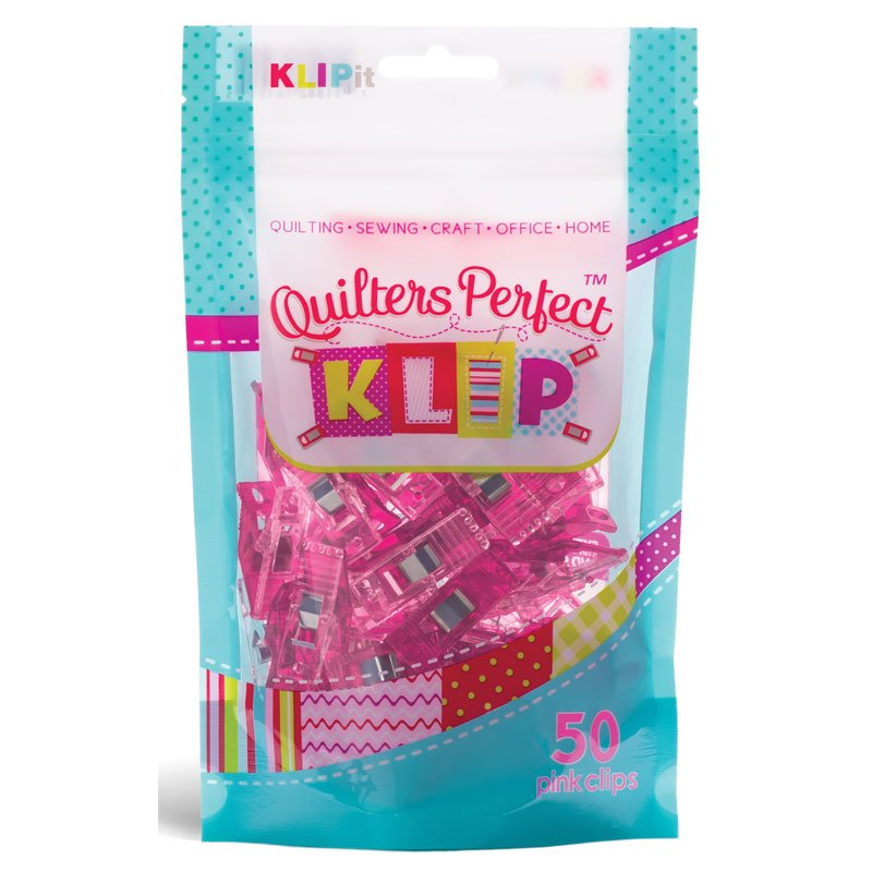 Quilters Perfect Klips Pink 50 ct.
