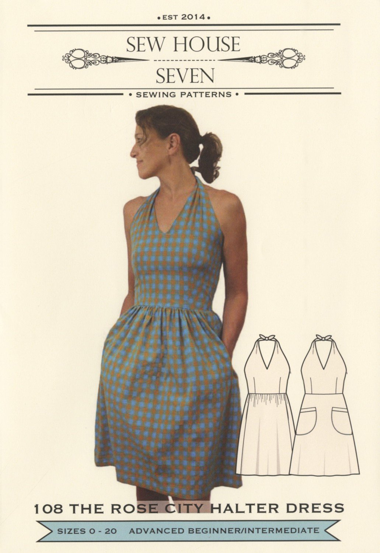 The Rose City Halter Dress Pattern