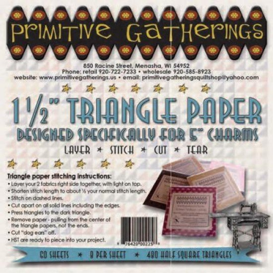 1 1/2 Triangle Paper Designed Specifically For 5 Charms