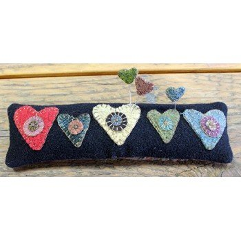 Primitive Heart Pincushion Kit Only