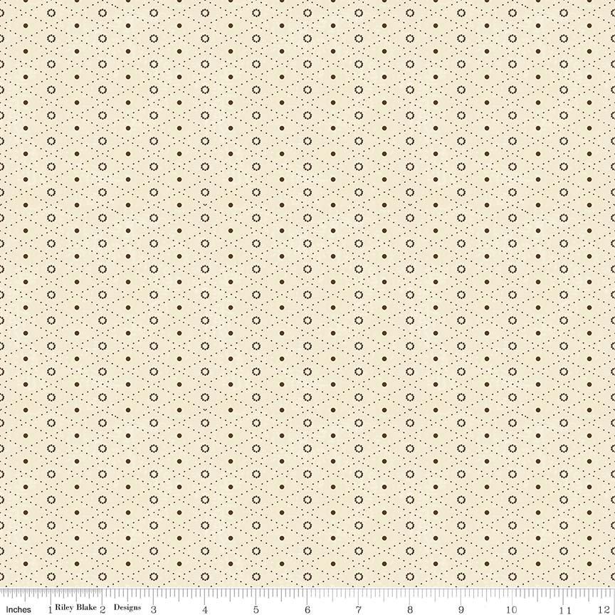19th Century Shirtings Argyle C144 Brown