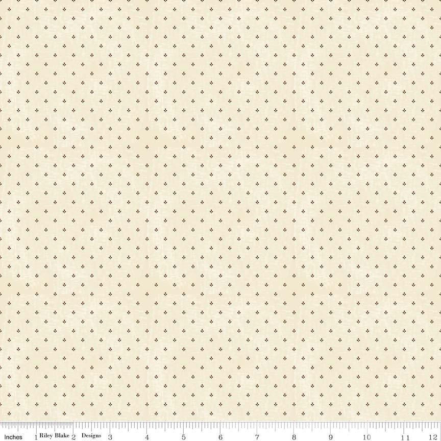 19th Century Shirtings Bud C147 Orange/Brown