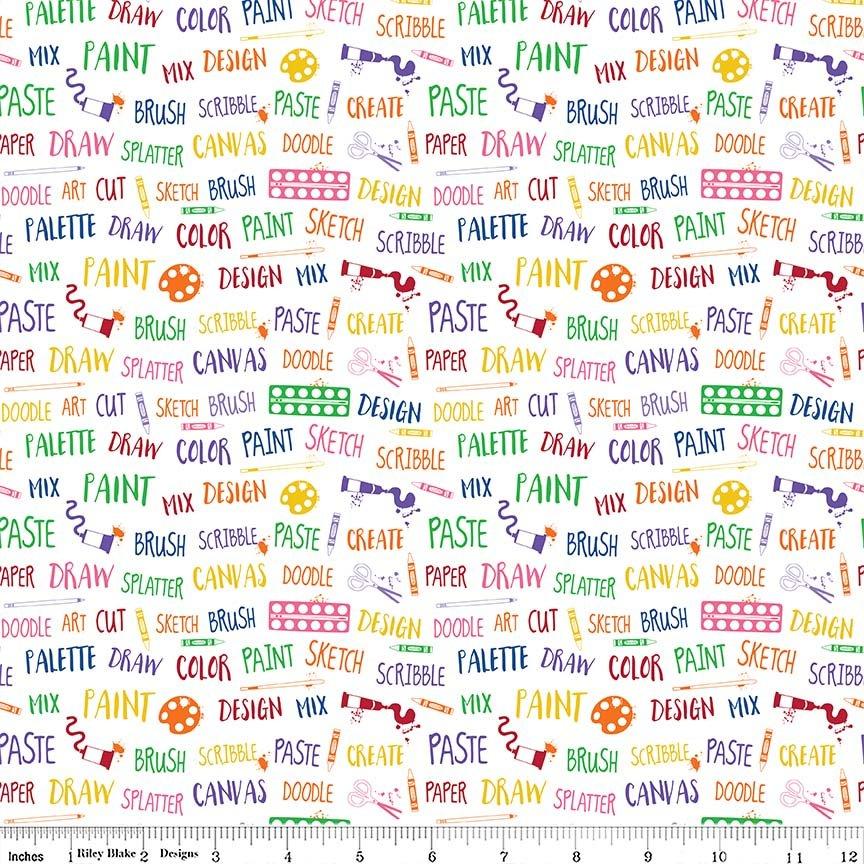 Art Box Words White C6622