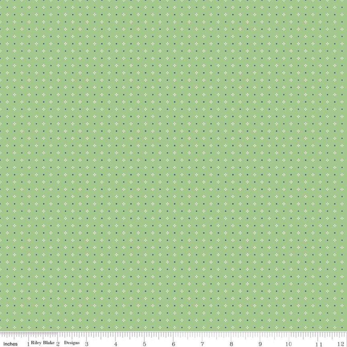 Farm Girl Vintage Calico Green C7884