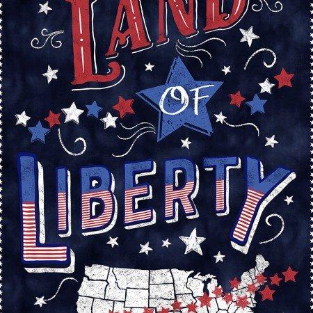 Sweet Land of Liberty Panel Gail-C6457-Navy