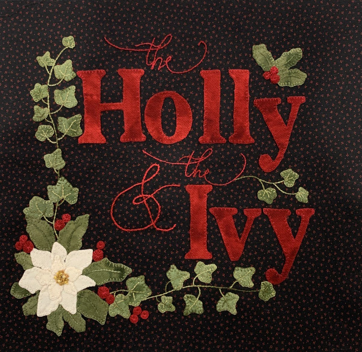 Christmas Carol Mystery Quilt Block - The Holly & Ivy
