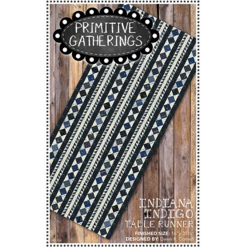 Indiana Indigo Table Runner
