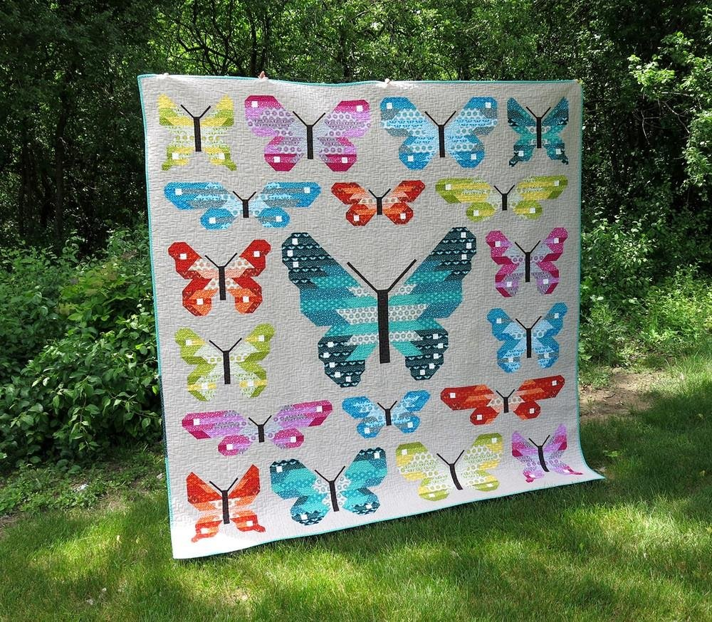 Lepidoptera Quilt Kit 83in x 83in
