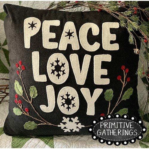 Peace Love Joy Pillow