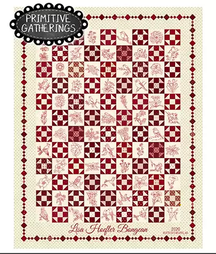 Redwork Gatherings Quilt